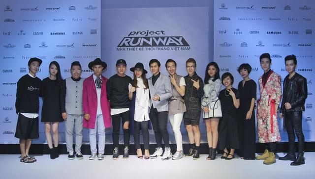 Top 14 Project Runway Vietnam mùa 3 trong buổi họp báo ra mắt chương trình