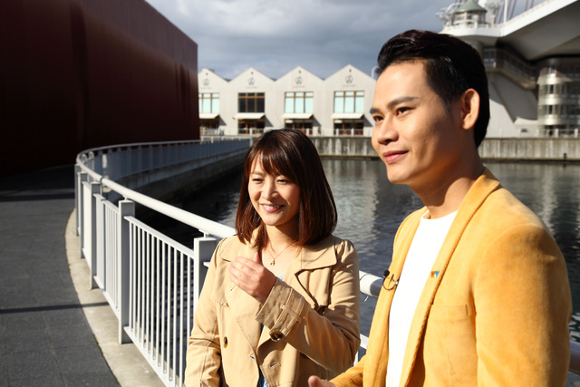MC Hồng Phúc và MC Asami dẫn chính tại tỉnh Aomori.
