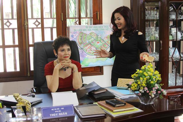 Diễn viên Đàm Hằng và NSND Minh Châu trong phim Gia phả của đất.