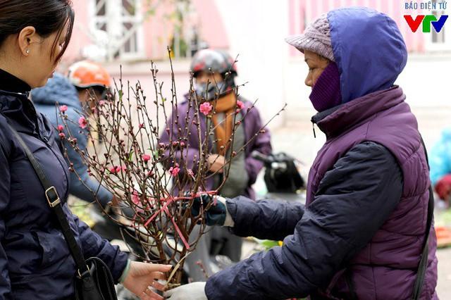 Trong một năm, người trồng ở Nhật Tân thường có 3 đợt bán đào. Lần đầu là Tết Dương lịch, lần thứ hai từ ngày 23 tháng Chạp đến chiều ngày cuối cùng của năm, lần ba là từ mùng 4 Tết cho đến Rằm tháng Giêng.