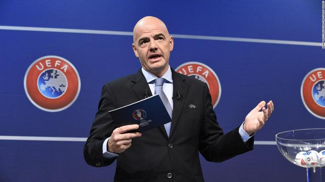 Chủ tịch FIFA Gianni Infantino - một trong những người đề xuất ý tưởng cho EURO 2020. Ảnh: Getty