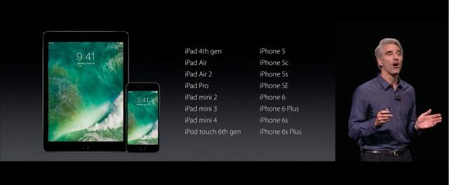 Danh sách các thiết bị tương thích với iOS 10