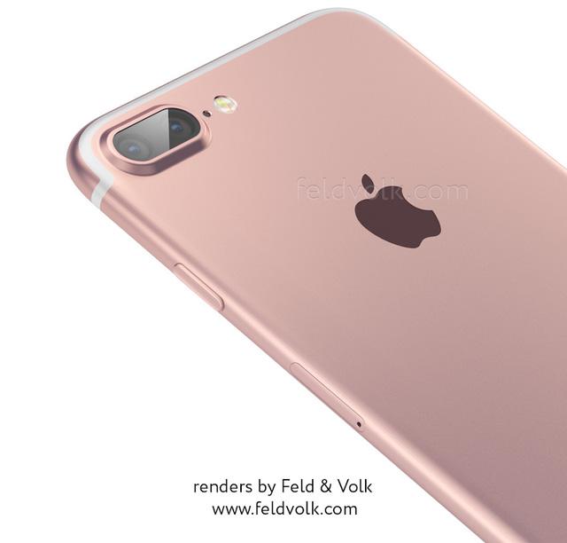 Ảnh dựng iPhone 7 Plus với cụm camera kép phía sau