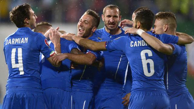 Italia xuất sắc đứng đầu bảng đấu có sự góp mặt của ĐT Bỉ và ĐT Thụy Điển