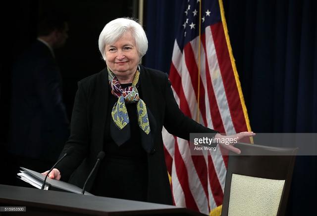 Chủ tịch Cục Dự trữ Liên bang Mỹ (FED) Janet Yellen