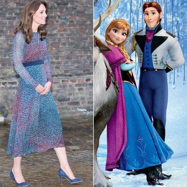 Trong khi đó, thiết kế váy này của L.K. Bennett lại có sắc màu gợi nhớ đến bộ cánh trong phim Frozen.