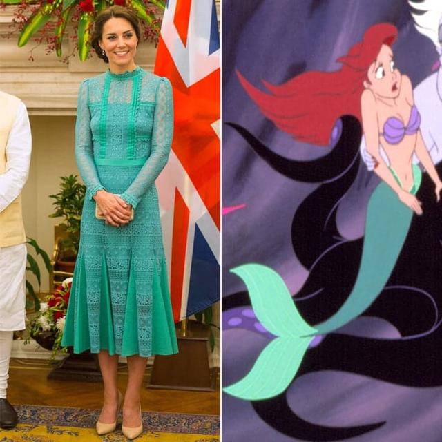 Còn bộ cánh nữ tính với màu xanh dịu mắt này có nét tương đồng với chiếc đuôi cá mềm mại của nàng công chúa Ariel.