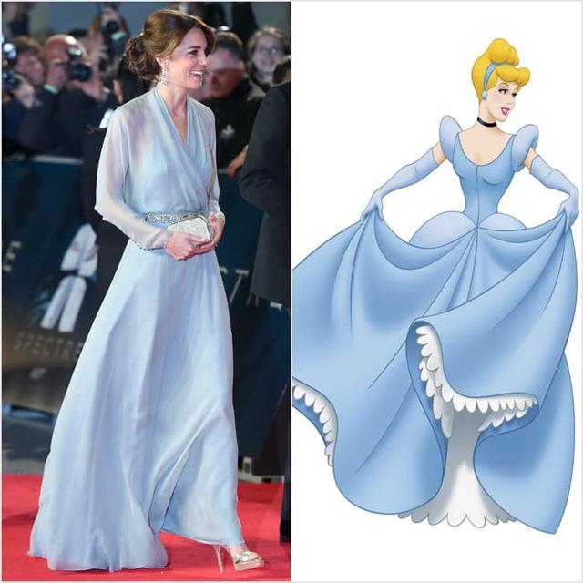 Trong buổi ra mắt bộ phim Spectre, Công nương Anh từng diện bộ đầm đẹp như váy của nàng Lọ Lem.