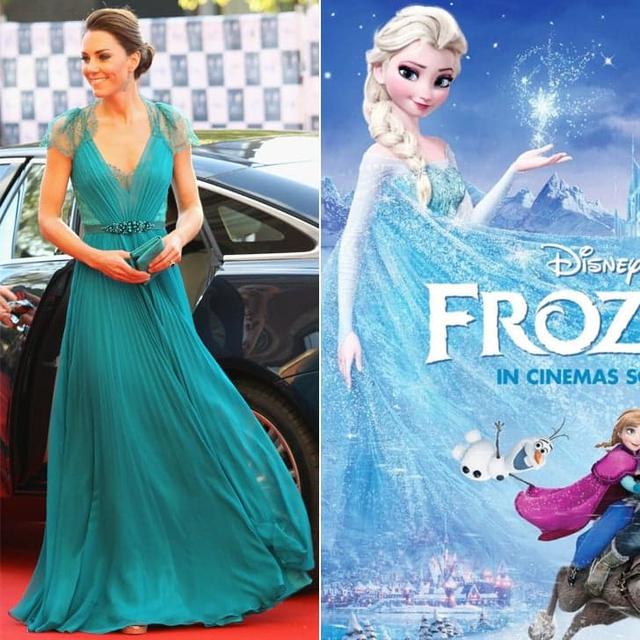 Cả chiếc váy quyến rũ này nữa, có ai lại không nhớ đến công chúa Elsa nhỉ?