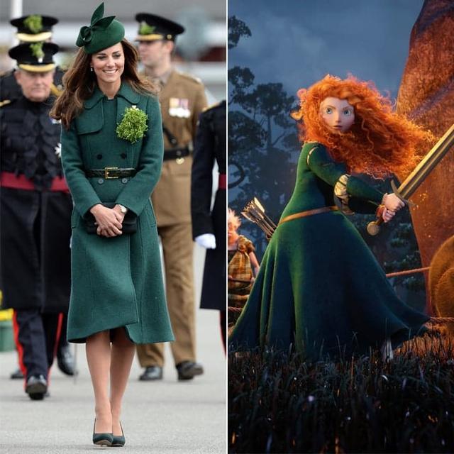 Chiếc áo khoác váy được thiết kế bởi Emilia Wickstead chắc hẳn được lấy cảm hừng từ trang phục của nàng công chúa tóc xù Merida chăng?