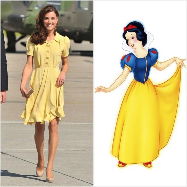 Thật dễ liên tưởng đến công chúa Bạch Tuyết với bộ váy đơn giản mà thanh lịch này!