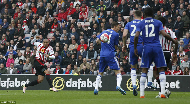Khazri gỡ hòa 1-1 cho Sunderland
