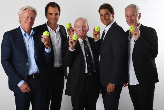 Roger Federer, Rafael Nadal, Bjorn Borg, Rod Laver và John McEnroe
