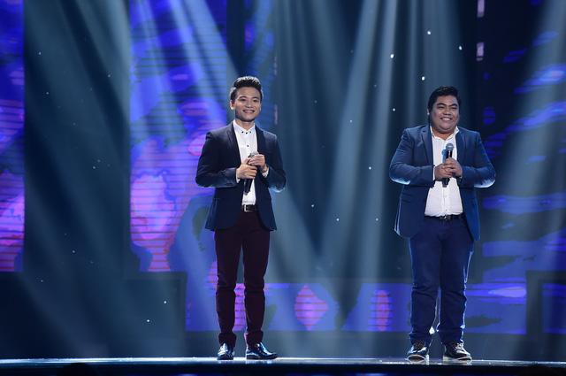 Cặp thí sinh Lê Biểu - Trung Nghĩa thể hiện ca khúc nổi tiếng Sầu tím thiệp hồng nhưng chưa thành công khi không có HLV nào lựa chọn.