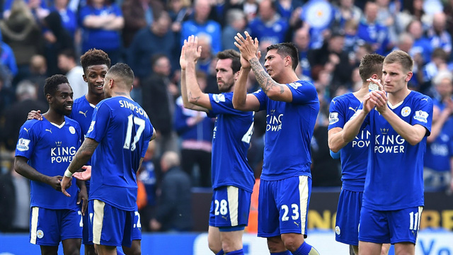 Leicester City đang có lợi thế rất lớn khi hơn Tottenham tới 5 điểm khi giải chỉ còn 4 vòng.