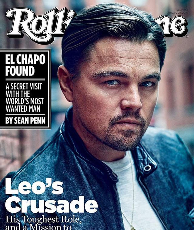 Leonardo DiCaprio trên trang bìa tạp chí Rolling Stone.