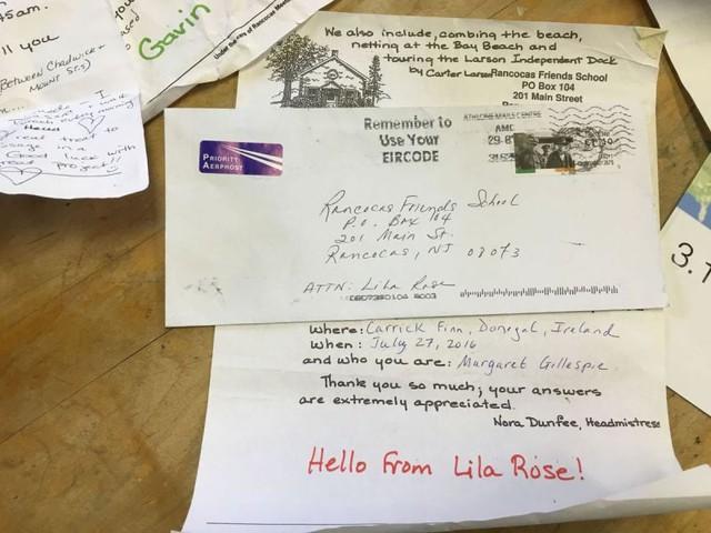 Bức thư hồi đáp của người nhặt được chai có bức thư của cô bé Lila Rose. ẢNh: Buckscountycouriertimes