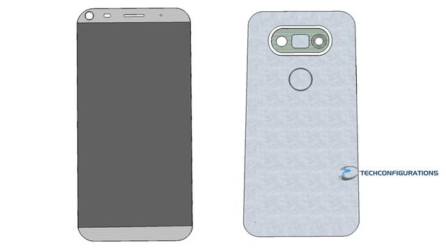 Thiết kế mặt trước và mặt sau của LG G5