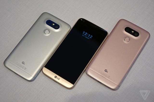 Hình ảnh thực tế của LG G5 (Nguồn: The Verge)