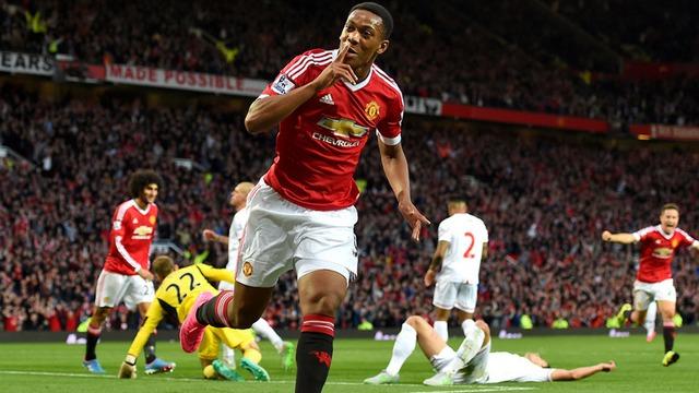 Martial từng tỏa sáng khi ra mắt Man Utd trong trận gặp Liverpool ở lượt đi