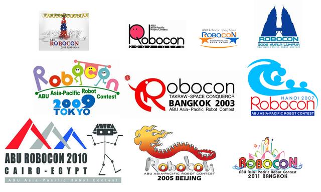 Biểu trưng của cuộc thi ABU Robocon trong một số năm