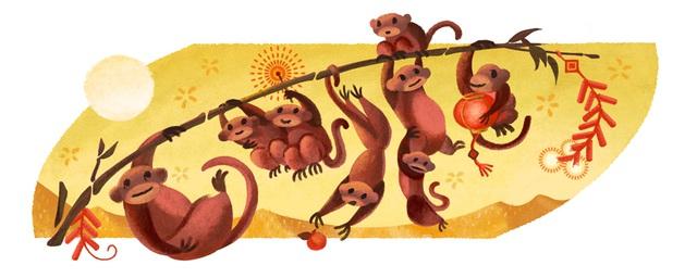 Doodle mới của Google nhân dịp Tết Âm lịch tại châu Á