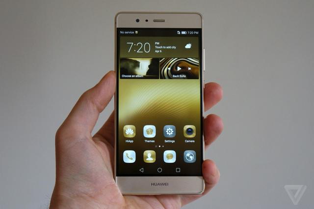 Mặt trước Huawei P9 - Ảnh: The Verge