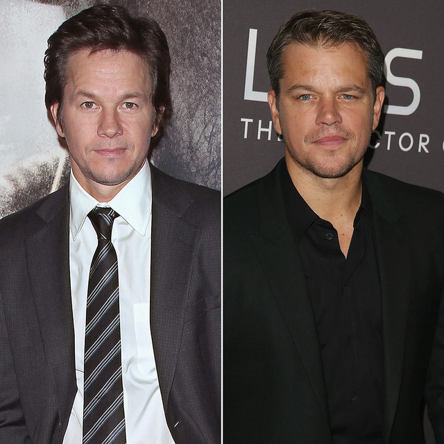 Bạn đã từng để ý xem hai nam diễn viên Mark Wahlberg và Matt Damon có lúc lại giống nhau đến thế này?