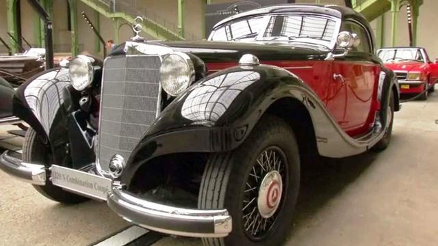 Một mẫu xe cổ tại triển lãm. - Ảnh: Reuters