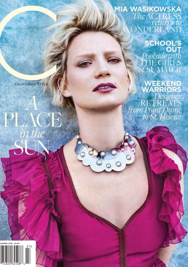 Những bức ảnh của Mia Wasikowska trên tạp chí C được chụp bởi nhiếp ảnh gia  Alexei Hay.