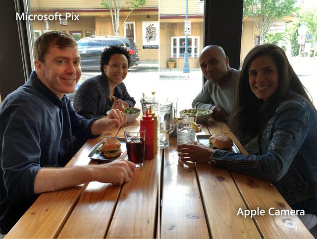 So sánh ảnh chụp bởi Microsoft Pix và ứng dụng camera mặc định trên iPhone