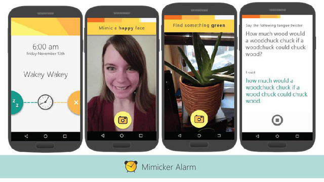 Giao diện của The Mimicker Alarm