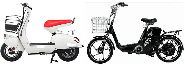 Có thể phân biệt xe đạp điện và xe máy điện bằng mắt thường hoặc các thông số kỹ thuật