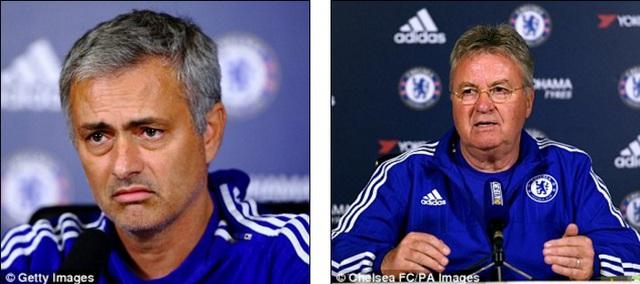 Hai chiến lược gia lão làng Mourinho và Hiddink đều không giúp được Chelsea tránh khỏi mùa giải đáng quên nhất lịch sử.