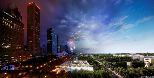 Công viên Thiên niên kỷ, Chicago (Ảnh: Stephen Wilkes)