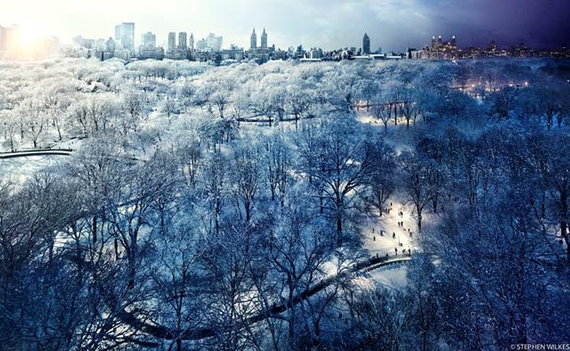 Công viên Tuyết ở New York (Ảnh: Stephen Wilkes)