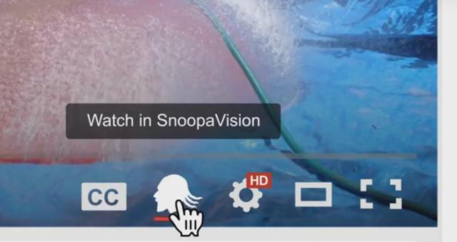 Nhấn vào biểu tượng giống hình Snoop Dogg để trải nghiệm tính năng SnoopaVision