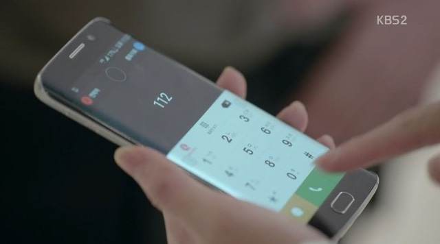 Cận cảnh chiếc Galaxy S6 Edge+ trong phim (Ảnh: blog.naver.com)