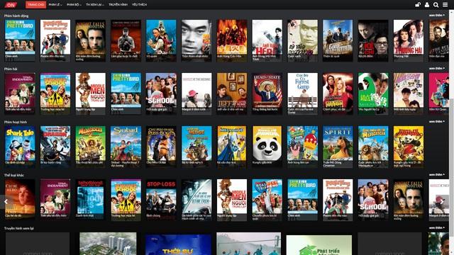 Khán giả có thể thưởng thức kho phim khổng lồ với ứng dụng VTVcab ON.