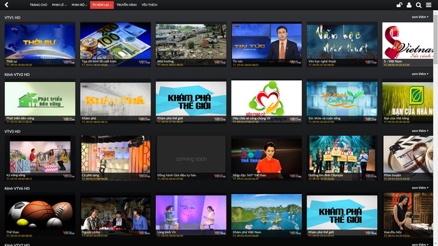 Khán giả cũng có thể dễ dàng xem lại các chương trình ưa thích của VTVcab.