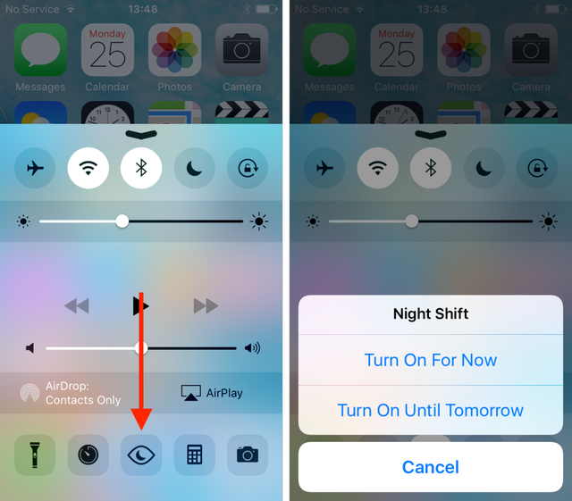 iOS 9.3 beta 2 bổ sung nút mới giúp người dùng dễ dàng kích hoạt tính năng Night Shift