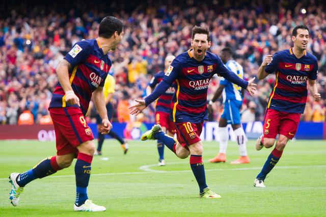 Những ngôi sao đẳng cấp như Messi và Suarez giúp Barcelona xếp ở vị trí thứ 2