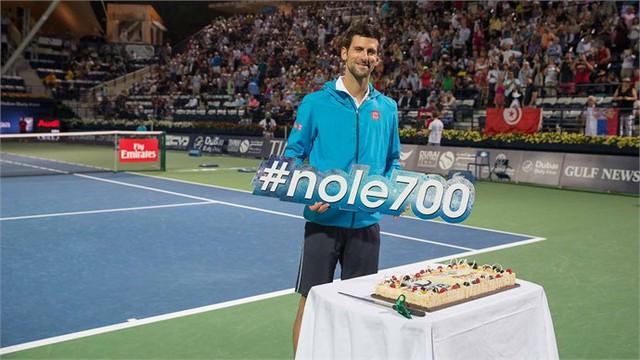 Djokovic ăn mưng chiến thắng thứ 700 trong sự nghiệp