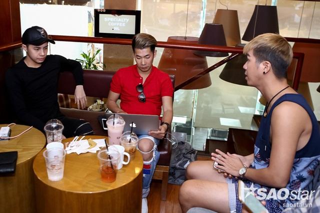 Noo Phước Thịnh thảo luận cùng Stylist Travis Nguyễn và biên đạo Hồ Quang Vinh