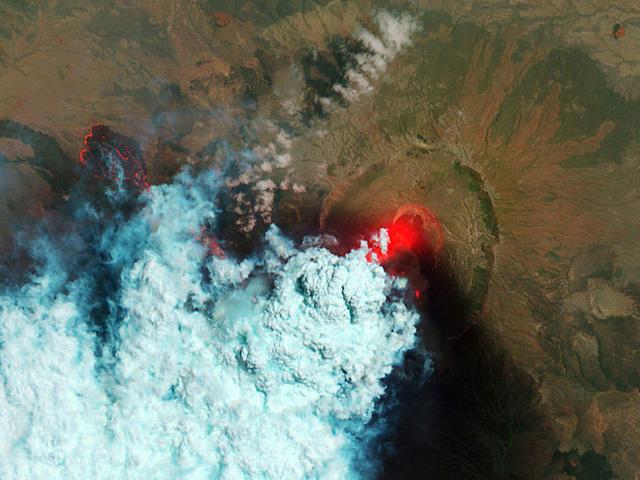 Núi lửa Nabro ở Eritrea