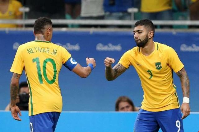 Cặp bài trùng Neymar - Gabigol trên hàng công Olympic Brazil