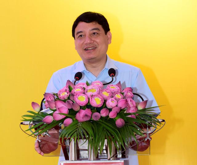 Ông Nguyễn Đắc Vinh - Bí thư tỉnh ủy Nghệ An phát biểu tại sự kiện