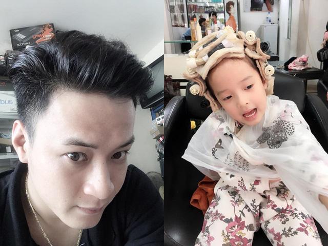 Diễn viên Hồng Đăng khoe tóc mới của anh và con gái Nhím.