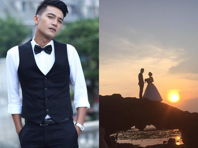 Diễn viên Quang Tuấn bảnh bao khi đi chụp ảnh cưới.