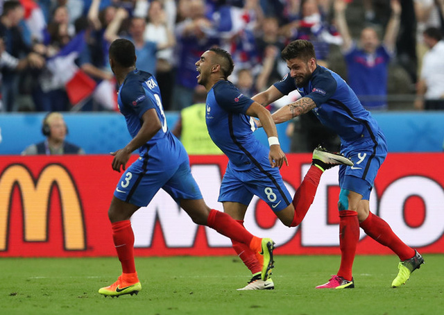 Giroud và Payet tiếp tục toả sáng để đem về chiến thắng cho ĐT Pháp trước Albania? Ảnh: UEFA